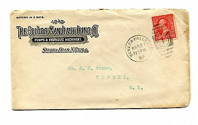 Vintage Advertising Envelope GOULDS MANUFACTURING Pumps Seneca Falls NY 1899