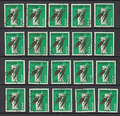 1969 15c TIMBER, 20 STAMPS, USED