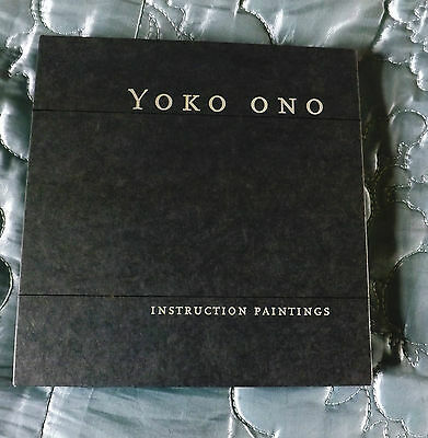 """Yoko Ono """" Instruction Paintings"""" Book In Original Card Sleeve First Edition"""