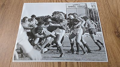 New South Wales v France 1981 Original Rugby Press Photograph (Rives)