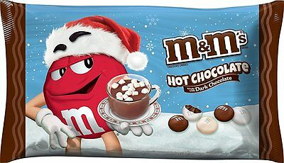 M&M's Dark HOT CHOCOLATE Candy Limited Seasonal 8oz BB-9/2016 M&Ms cocoa m&m mm