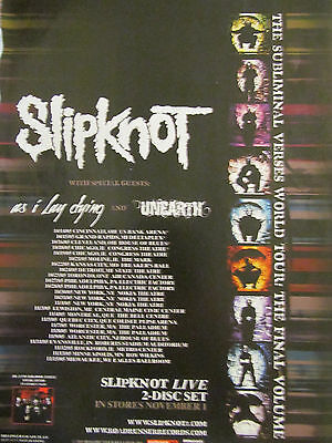 Slipknot, World Tour, Full Page Promotional Ad