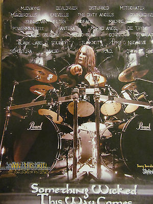 Slipknot, Joey Jordinson, Pearl Drums, Full Page Promotional Ad