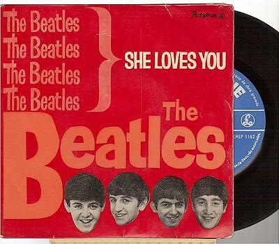 "The Beatles EP 45t 7"" She Loves You pressing portugal"