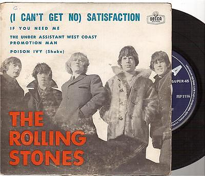 "The Rolling Stones 45t 7"" EP Satisfaction portugal pressing"