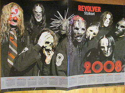 Slipknot, DragonForce, Double Two Page Centerfold Poster