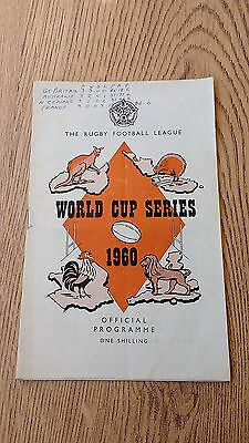 Great Britain v Australia 1960 Rugby League World Cup Programme