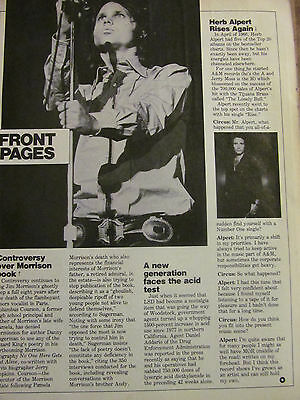 The Doors, Jim Morrison, Full Page Clipping