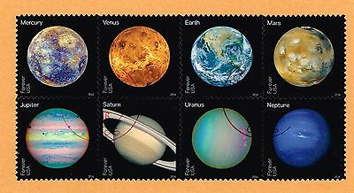 2016 VIEWS OF OUR PLANETS - BLOCK OF 8 - USED ON PAPER (Regular, not imperf)
