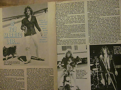 Leif Garrett, Two Page Vintage Clipping