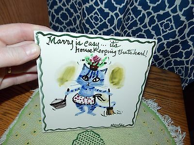 Cat Tile by Susi Made in USA Housework