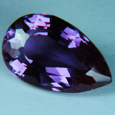 10.85ct.AWESOME RUSSIAN COLOR CHANGE ALEXANDRITE PEAR GEMSTONE10.85