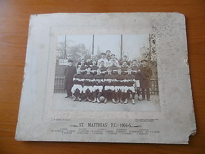 1904 1905 St Matthias Fc   Football Team  Photograph Vintage East London