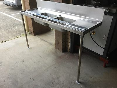 Commercial 2 Bowls Stainless Steel Sink