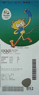 TICKET M 17.8.2016 Olympia Beachvolleyball Finale Women's Gold Deutschland # B92