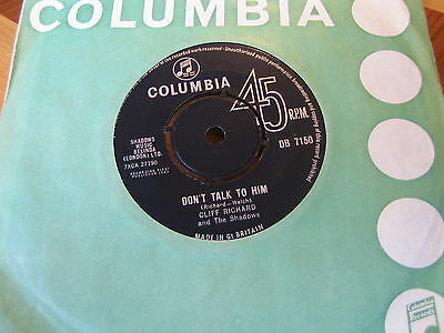 CLIFF RICHARD and the Shadows - DON'T TALK TO HIM  1963  VINYL EX/CON