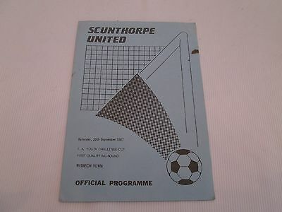 1987-88 FA YOUTH CUP 1ST QUALIFYING ROUND SCUNTHORPE UNITED v WISBECH TOWN