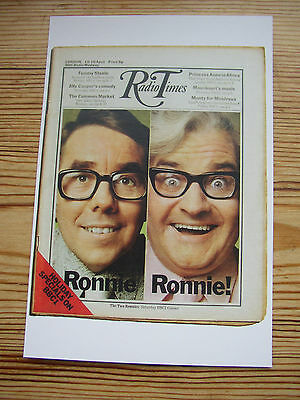 Postcard Vtg Radio Times cover April 1971 The Two Ronnies Ronnie Corbett+ Barker