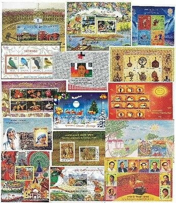 India 2016 Year Complete Pack Of 17 Miniature Sheets Mnh - Including Singers
