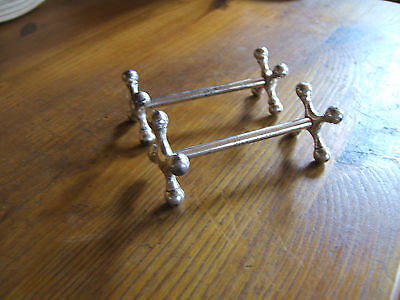 Pair Of Victorian Silver Plated Knife-Rests......