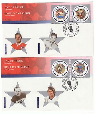 CANADA 2001 NATIONAL ICE HOCKEY LEAGUE SET OF 6 3 x OFFICIAL FIRST DAY COVERS