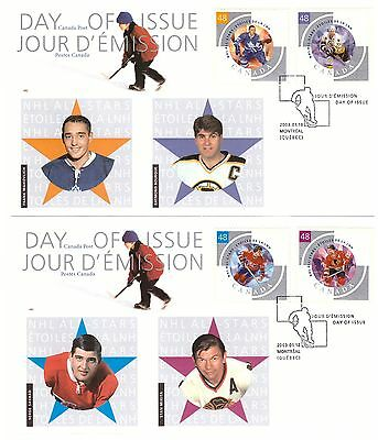 CANADA 2003 NATIONAL ICE HOCKEY LEAGUE SET OF 6 ON 3 x OFFICIAL FIRST DAY COVERS