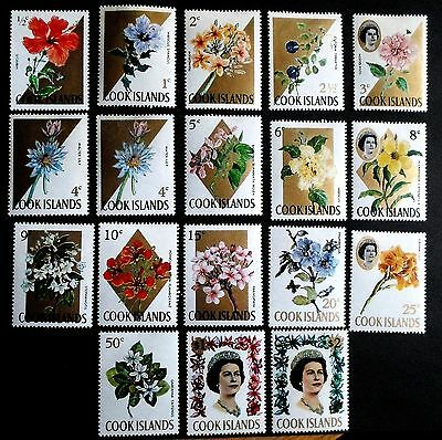 Cook Islands QEII 1967 Flowers Definitive set to $2 Eighteen values -  LM/Mint