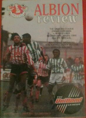 WITTON ALBION v WHITLEY BAY. 28/1/1995
