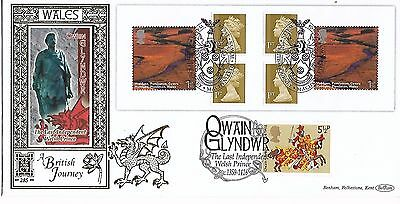 GB 2004 Wales Booklet stamps Benham Silk Gold FDC special cancel