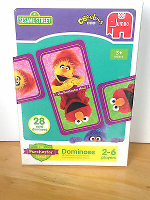 Sesame Street The Furchester Hotel Card Dominoes - NEW