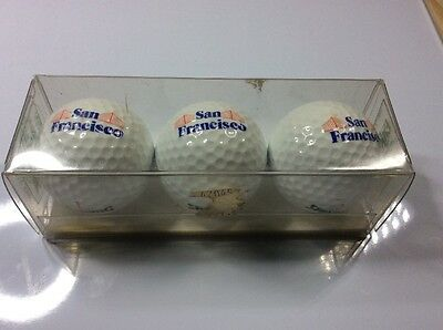 Set of 3 boxed golf balls - SAN FRANCISCO - Spalding 1990
