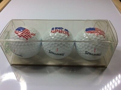Set of 3 boxed golf balls - USA - United states of america - Spalding 1991