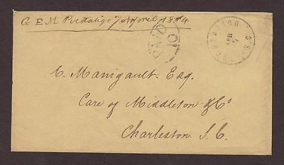 Confederate: Pocataligo, SC 1864 CSA Stampless Cover, DPO Beaufort Co