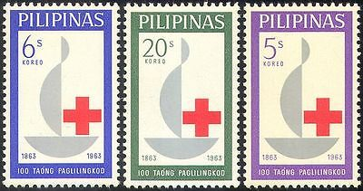 Philippines 1963 Red Cross Centenary/Medical/Health/Welfare/Candle 3v set n29004
