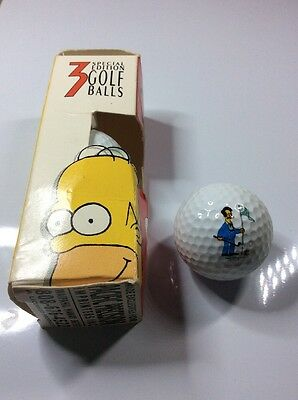 Set of 3 boxed special edition golf balls - THE SIMPSONS - Spalding c.1990