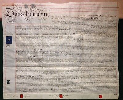 Large Victorian 1869 Mortgage Indenture West Street Chipping Norton Oxfordshire