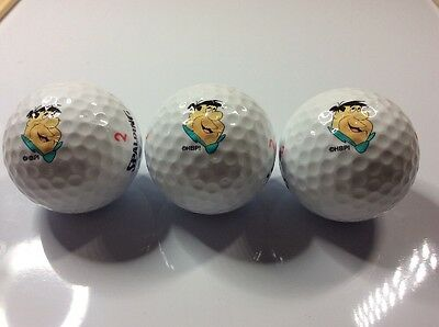 Set of 3 golf balls unboxed - FRED FLINTSON - c.1990