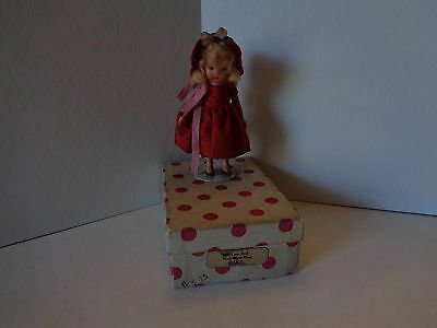 Nancy Ann Bisque Storybook Doll #113 Roses Are Red Violets Are Blue with Box