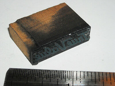 Vintage TRUE VALUE LOGO Printing Letterpress Printers Block ENGRAVED Metal Stamp