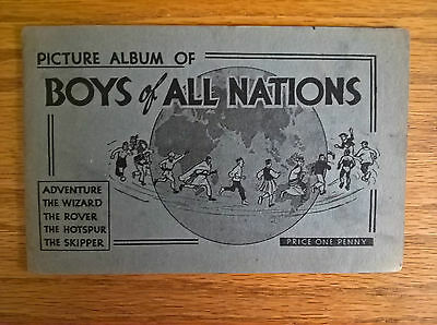 D C Thomson trade cards: Boys of All Nations empty album 1936 Wizard Hotspur