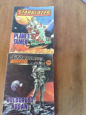 Starblazer comics numbers 7 and 40 . Holocaust Hogan & Planet Tamer