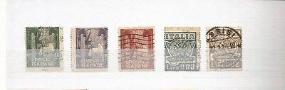 Italy 1923 Scott 159-64 Mh/used Partial Scv $86