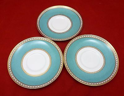Wedgwood Turquoise Ulander W1503  6.25 inch Saucers only x 3