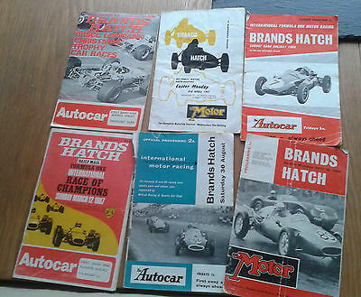 Brands Hatch Motor Racing Programme collection (6)