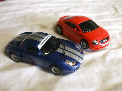 2 X Micro Scalextric Cars Porsche And A Audi