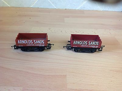Two Hornby 'Arnold's Sands' Wagons In Excellent Condition OO Gauge