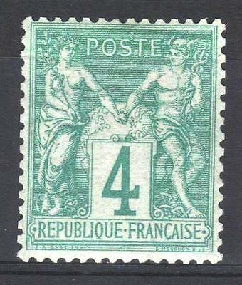 """FRANCE STAMP TIMBRE YVERT N°  63 """" SAGE 4c VERT 1876 """" NEUF xx LUXE P442"""