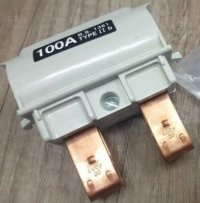 Lucy Electric Type Ii Fuse 100A Carrier Cut Out Holder & Bussman 100Lr85 Barrel
