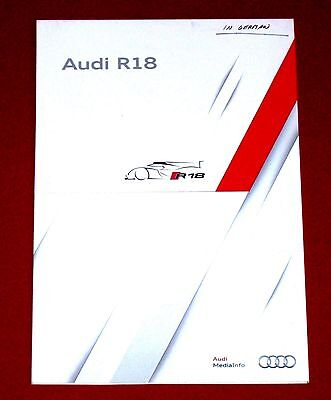 2012 AUDI R18 Race Car Presskit - 2012 FIA World Endurance Championship