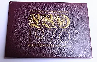 1970 Eight Coin Proof Set[Pre-Decimal] With Coa And Maroon Envelope
